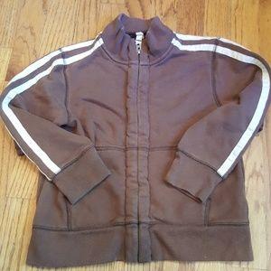 Lands' End Vintage Look Athletic Zip-up Jacket
